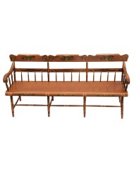 Lot 170: Very Fine 19th C. Pennsylvania Bench