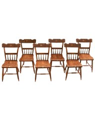 Lot 175: Set of Six 19th C. Pennsylvania Side Chairs