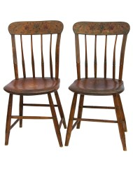Lot 195: Pair of 19th C. Side Chairs
