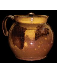 Lot 23E: Early New England Redware Bean Pot