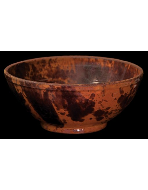Lot 23H: 19th C. New England Redware Mixing Bowl