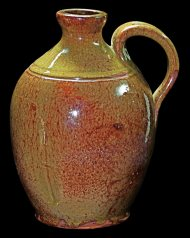 Lot 23I: Early 19th C. New England Pint Jug