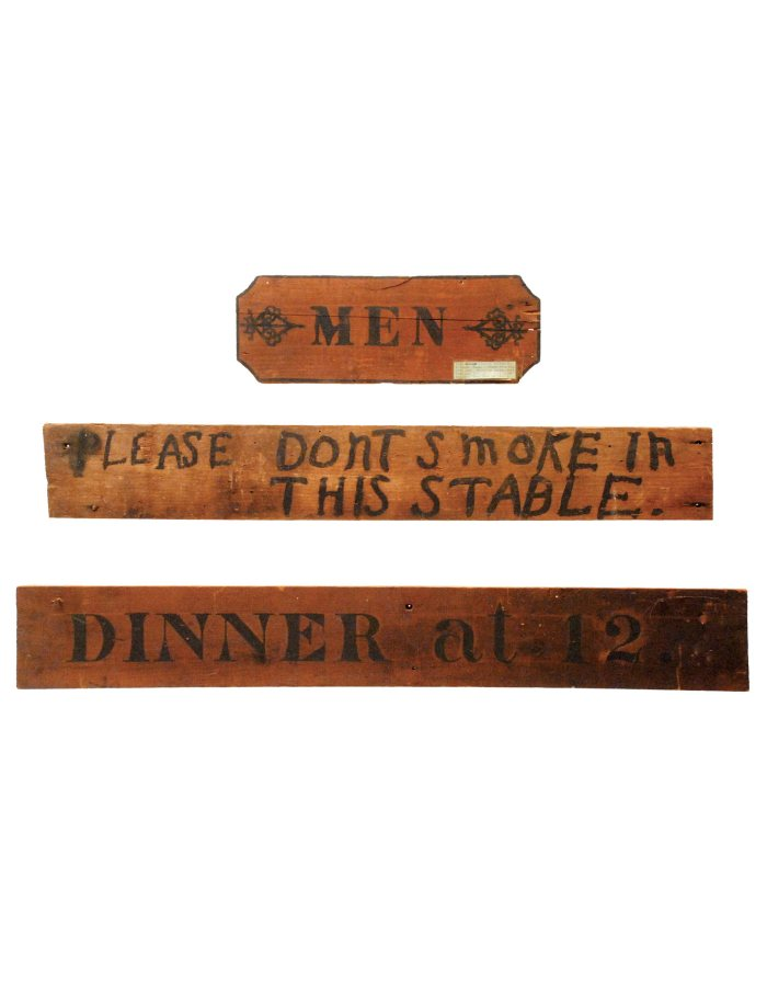 Lot 33: Three Wood Signs
