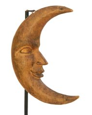 Lot 34: Carved Wooden Crescent Moon