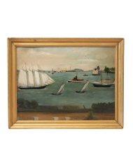 Lot 43: Oil of Nautical Scene