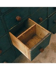 Lot 50: Blue  Apothecary Cupboard