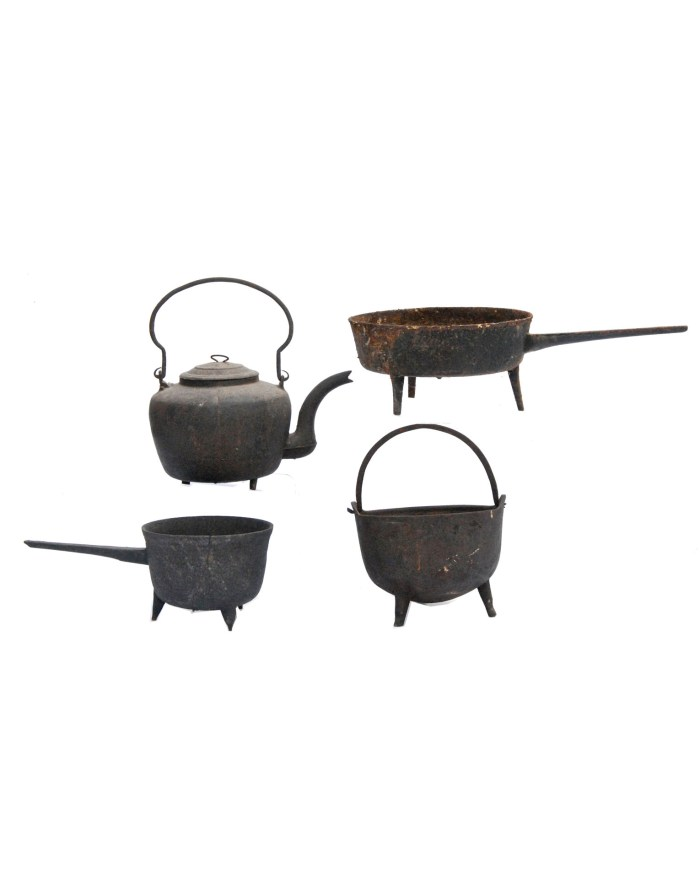 Lot 52A: Four Pieces of Fireplace Iron
