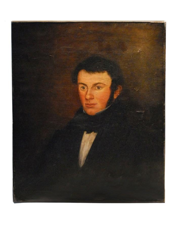 Lot 57: 19th C. Portrait of Gentleman