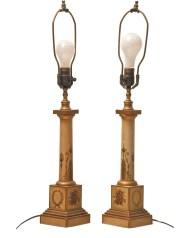 Lot 61: Tole Lamps