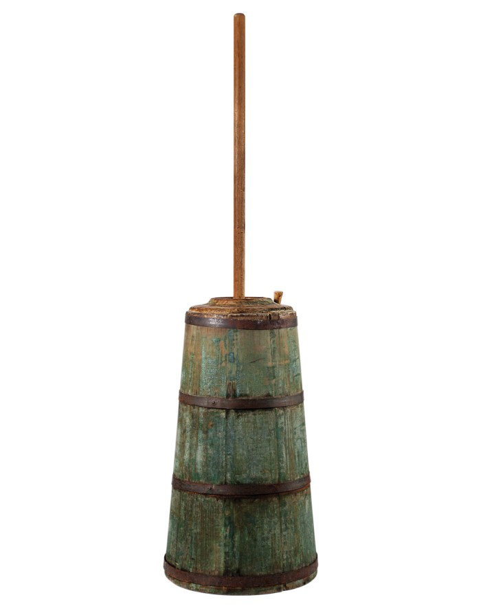 Lot 62: 19th C. New England Butter Churn