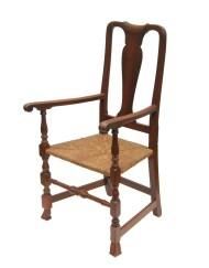 Lot 73: 18th C. Queen Anne Armchair