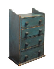 Lot 77: Miniature Four-Drawer Chest