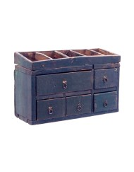 Lot 78: Early Hanging Work Chest