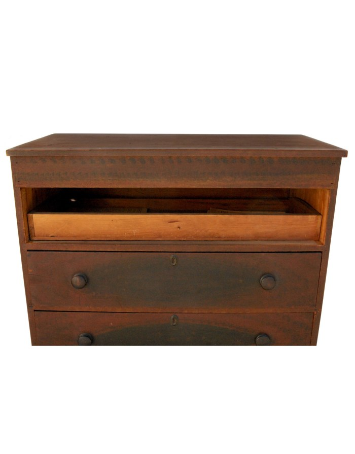 Lot 82: Early 19th C. Four-Drawer Chest