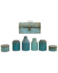 Lot 87: Seven Toleware Containers