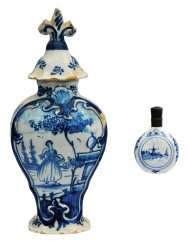 Lot 8B: Delft Snuff and Jar