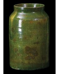 Lot 9D: New England Redware Tall Jar