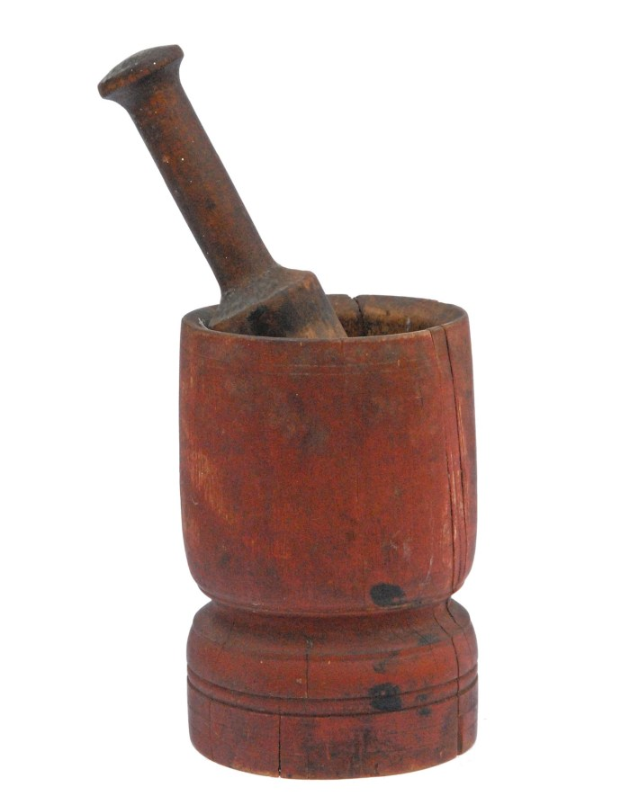 Lot 39A: 18th or Early 19th C. Mortar and Pestle