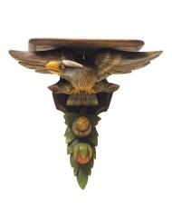 Lot 45A: Clock Shelf with Eagle
