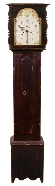 Lot 117: 19th c. Riley Whiting Tall Case Clock