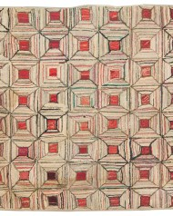 Lot 136: Two Geometric Hooked Scatter Rugs
