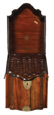 Lot 164: English Mahogany Knife Box