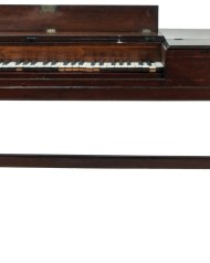 Lot 189: 18th c. English Harpsichord and Music Stand