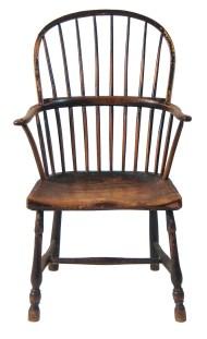Lot 209: 18th c. English Windsor Armchair