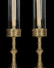 Lot 214: Brass Candlesticks
