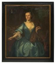 Lot 218: 18th c. Style Portrait
