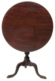 Lot 220: 18th c. Tip-Top Tea Table