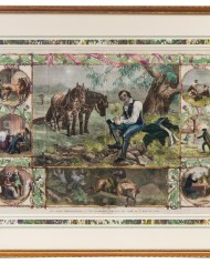 Lot 242: Two Framed Hand-Colored Prints