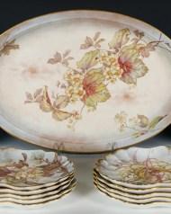 Lot 251: 19th c. Porcelain Set