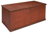 Lot 253: 19th c. New England Blanket Box