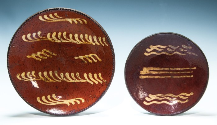 Lot 27A: Two Redware Plates