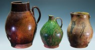Lot 27: Three Early Redware Pieces