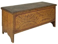 Lot 35: Grain Painted Blanket Chest