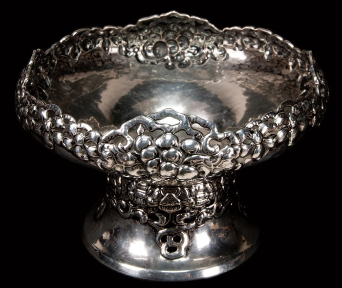 Lot 42: Silver Fruit Bowl