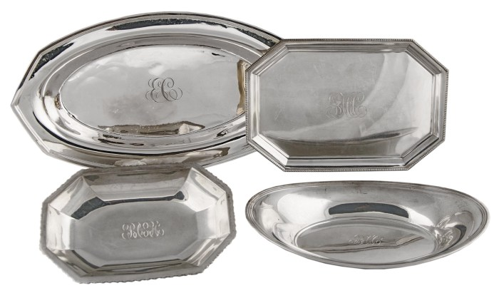 Lot 48: Four Sterling Silver Trays