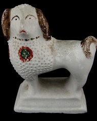 Lot 53: Chalkware Dog
