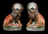 Lot 68: Staffordshire Lions