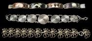 Lot 77C: Three Sterling Silver Bracelets