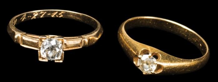Lot 78B: Diamond Rings