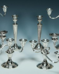 Lot 88A: Collection of Sterling Silver Candlesticks