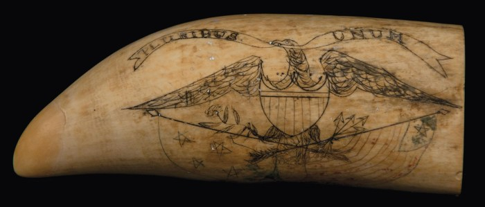 Lot 99A: 19th c. Whale's Tooth