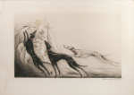 "Lot 23: 20th C. Drypoint Etching ""Coursing II"" Signed Louis Icart"