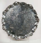 Lot 4: Early 20th C. English Sterling Sheffield Salver