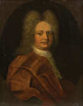 Lot 87: 18th C. Oil on Canvas Portrait of Edward Russell