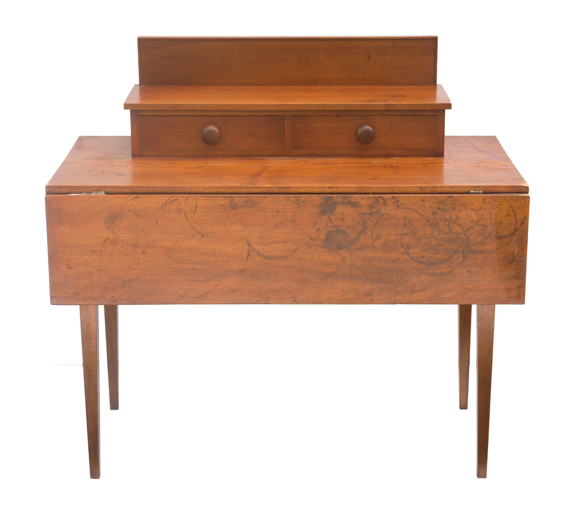 lot 213 work table with add on drawers willis henry auctions inc. Black Bedroom Furniture Sets. Home Design Ideas