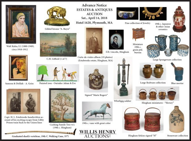 estates, antiques, auction, ad
